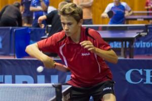 Dušan Čičmiš ml. - Satellite international youth table tennis tournament - Havířov 2014